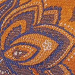 Haggar Men Sale: Orange Haggar Long Paisley Neck Tie