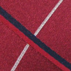 Haggar Men Sale: Red Haggar Long Woven Grid Neck Tie
