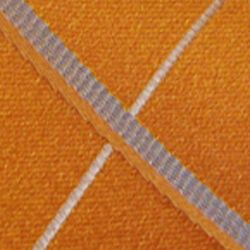 Haggar Men Sale: Orange Haggar Long Woven Grid Neck Tie