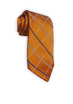 Haggar Long Woven Grid Neck Tie