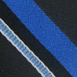 Haggar Men Sale: Black Haggar Long Striped Neck Tie