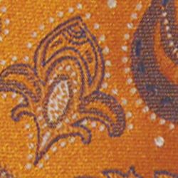 Haggar Men Sale: Orange Haggar Extra Long Paisley Neck Tie