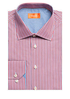 Tallia Orange Slim-Fit Stripe Dress Shirt