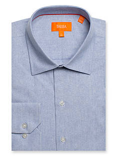 Tallia Orange Slim-Fit Solid Dress Shirt
