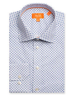 Tallia Orange Slim-Fit Neat Long Sleeve Dress Shirt