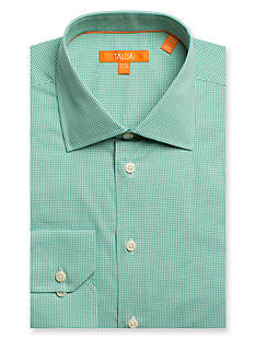 Tallia Orange Slim-Fit Mini Gingham Dress Shirt