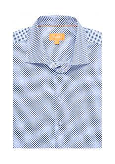 Tallia Orange Slim-Fit Geo Print Long Shirt