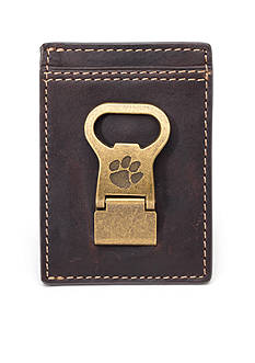 Jack Mason Clemson Gridiron Multicard Front Pocket Wallet