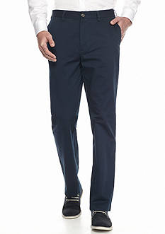 Haggar Authentic Chino Flat-Front Twill Pants