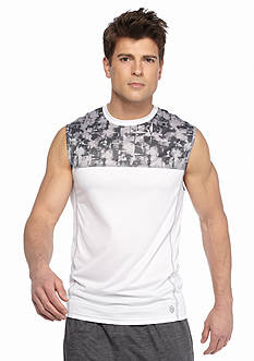 SB Tech Explosion Print Run Muscle Tee