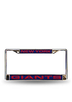 Rico Industries NY Giants Blue Chrome License Frame