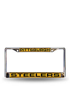 Rico Industries Steelers Yellow Chrome License Frame