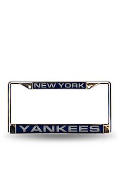 Rico Industries NY Yankees Blue Chrome License Frame