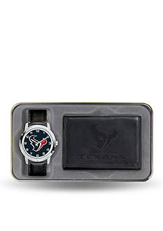 Rico Industries Houston Texans Black Watch and Wallet Gift Set-Online Only