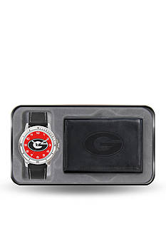Rico Industries Georgia Black Watch And Wallet Gift Set-Online Only