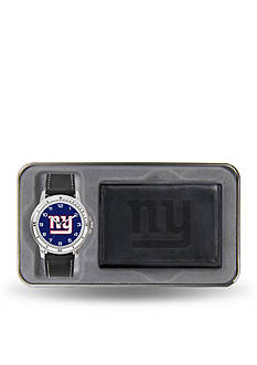 Rico Industries NY Giants Black Watch And Wallet Gift Set-Online Only