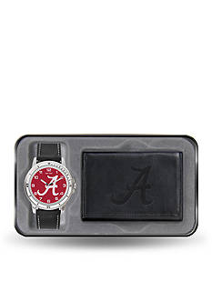 Rico Industries Alabama Black Watch And Wallet Gift Set-Online Only
