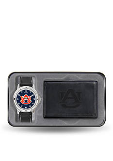 Rico Industries Auburn Black Watch And Wallet Gift Set-Online Only