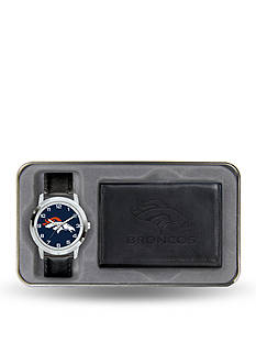 Rico Industries Denver Broncos Black Watch and Wallet