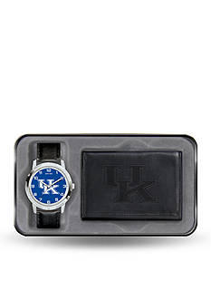 Rico Industries Kentucky Wildcats Black Watch and Wallet Gift Set-Online Only