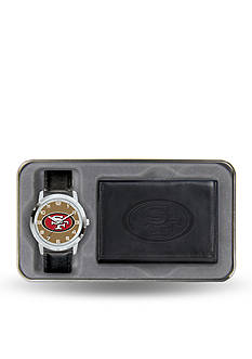 Rico Industries San Francisco 49ers Black Watch and Wallet Gift Set-Online Only