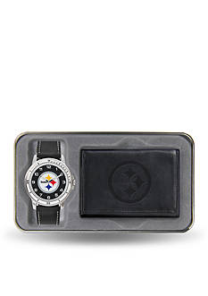 Rico Industries Steelers Watch And Wallet Gift Set-Online Only