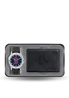 Rico Industries Red Sox Black Watch And Wallet Gift Set-Online Only