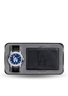 Rico Industries LA Dodgers Black Watch and Wallet Gift Set-Online Only