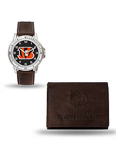 Rico Industries Cincinnati Bengals Brown Watch And Wallet Gift Set