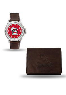 Rico Industries St. Louis Cardinals Brown Watch and Wallet Gift Set