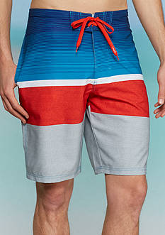 Red Camel Patriot Stripe 4-Way Board Shorts