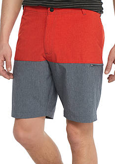 Red Camel Hybrid Side Zip Colorblock Shorts