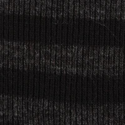 Original Penguin: Black Original Penguin Striped Knit Beanie Cap