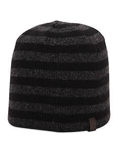 Original Penguin Striped Knit Beanie Cap