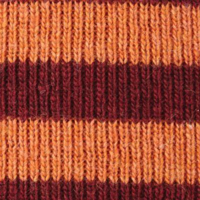 Original Penguin: Pomegranate Original Penguin Striped Knit Beanie Cap