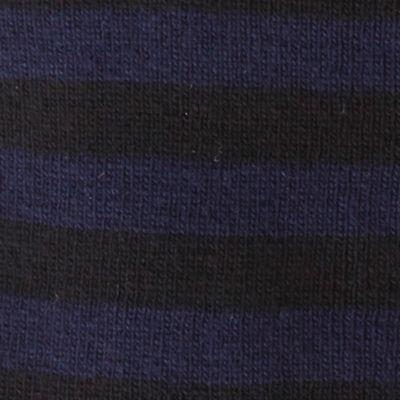 Original Penguin: Black/Navy Original Penguin Striped Knit Scarf