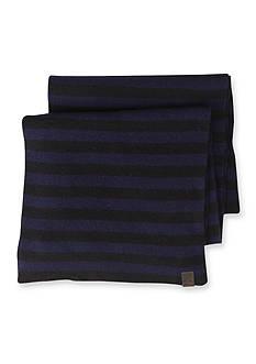 Original Penguin Striped Knit Scarf