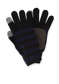 Original Penguin Touch Tek Knit Stripe Gloves