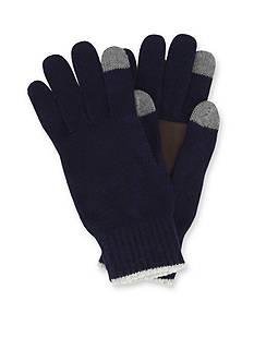 Original Penguin Solid Color Knit Gloves
