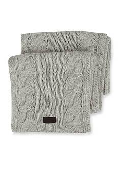 Original Penguin Cable Knit Scarf
