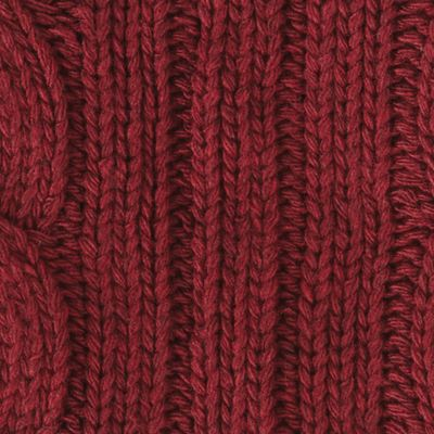 Guys Accessories: Cold Weather: Pomegranate Original Penguin Cable Knit Scarf