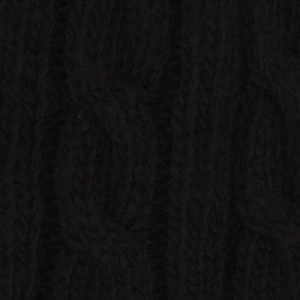 Haggar: Black Haggar Cable Knit Beanie Cap