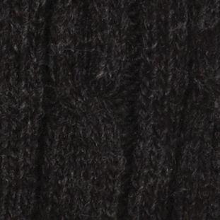 Haggar: Charcoal Haggar Cable Knit Beanie Cap