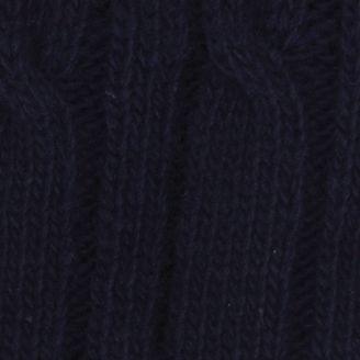 Haggar: Navy Haggar Cable Knit Beanie Cap