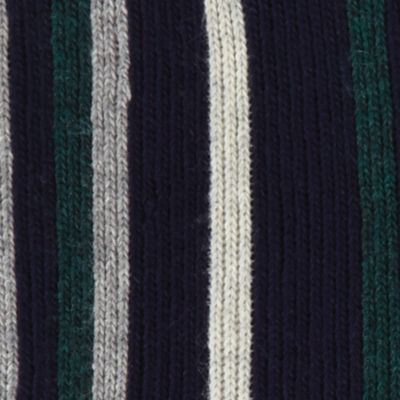 Guys Accessories: Hats, Scarves & Gloves: Midnight Navy Haggar Striped Scarf