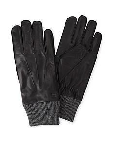 Haggar Leather & Knit Gloves