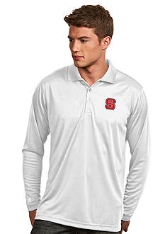 Antigua NC State Wolfpack Long Sleeve Exceed Polo