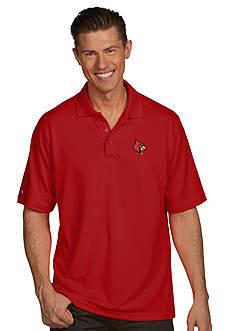 Antigua Louisville Cardinals Pique Xtra Lite Polo