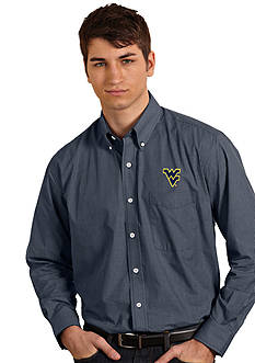 Antigua West Virginia Mountaineers Focus Woven Shirt