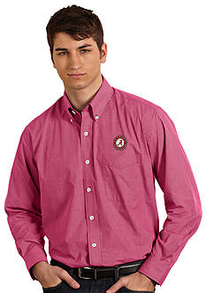 Antigua Alabama Crimson Tide Focus Woven Shirt